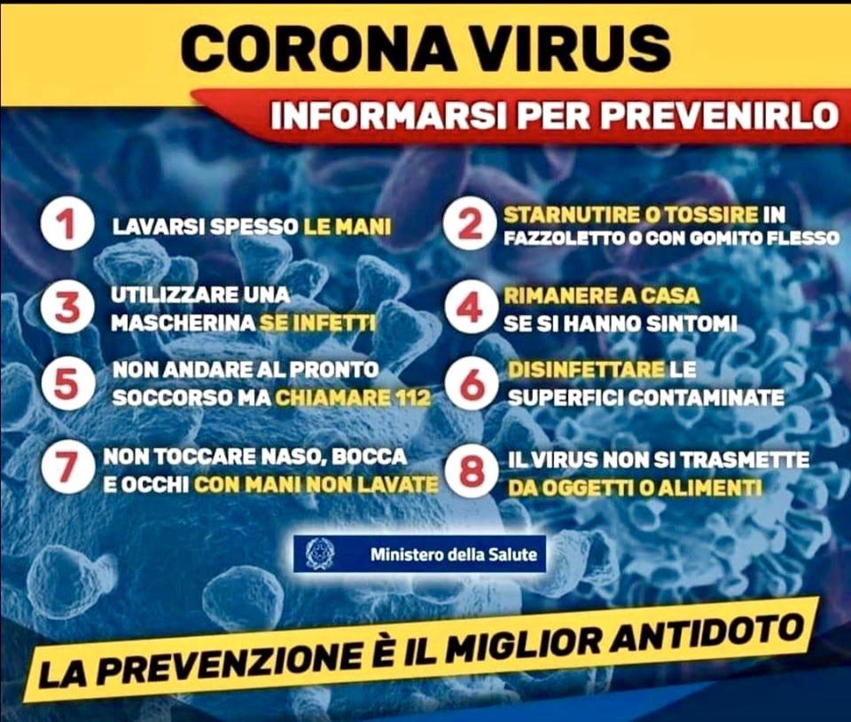 Coronavirus: niente panico, ma buon senso